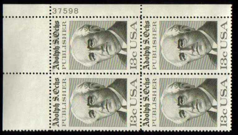 "Scott 1700 Plate Block (13 cents) <p> <a href=""/images/USA-Scott-1700-PB.jpg""><font color=green><b>View the image</a></b></font>"