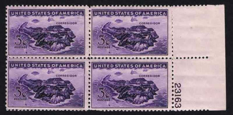 "Scott 0925 Plate Block (3 cents) <p> <a href=""/images/USA-Scott-0925-PB.jpg""><font color=green><b>View the image</a></b></font>"