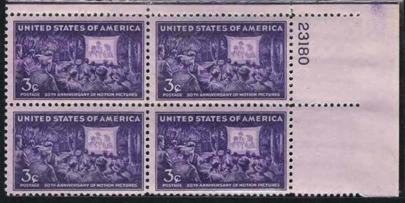 "Scott 0926 Plate Block (3 cents) <p> <a href=""/images/USA-Scott-0926-PB.jpg""><font color=green><b>View the image</a></b></font>"