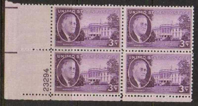 Scott 0932 Plate Block (3 cents) <p> <a href=&quot;/images/USA-Scott-0932-PB.jpg&quot;><font color=green><b>View the image</a></b></font>