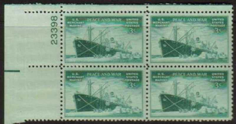 "Scott 0939 Plate Block (3 cents) <p> <a href=""/images/USA-Scott-0939-PB.jpg""><font color=green><b>View the image</a></b></font>"