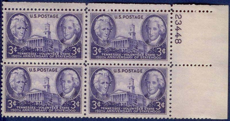 "Scott 0941 Plate Block (3 cents) <p> <a href=""/images/USA-Scott-0941-PB.jpg""><font color=green><b>View the image</a></b></font>"