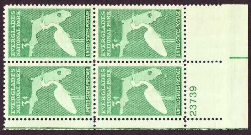 "Scott 0952 Plate Block (3 cents) <p> <a href=""/images/USA-Scott-0952-PB.jpg""><font color=green><b>View the image</a></b></font>"