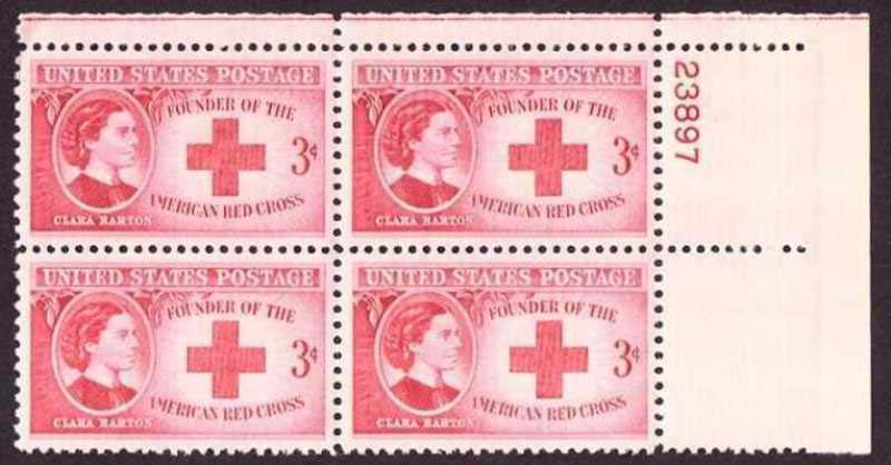 "Scott 0967 Plate Block (3 cents) <p> <a href=""/images/USA-Scott-0967-PB.jpg""><font color=green><b>View the image</a></b></font>"