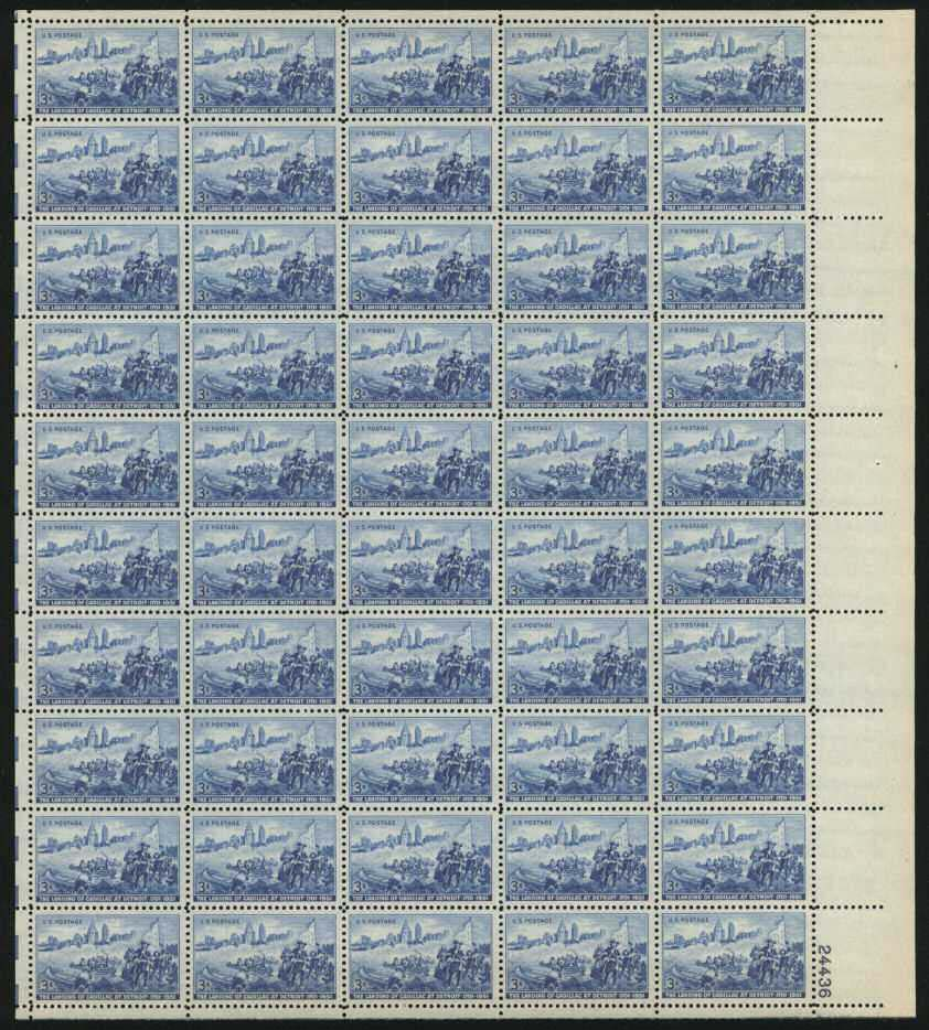 Scott 1000 Sheet (3 cents) <p> <a href=&quot;/images/USA-Scott-1000-Sheet.jpg&quot;><font color=green><b>View the image</a></b></font>