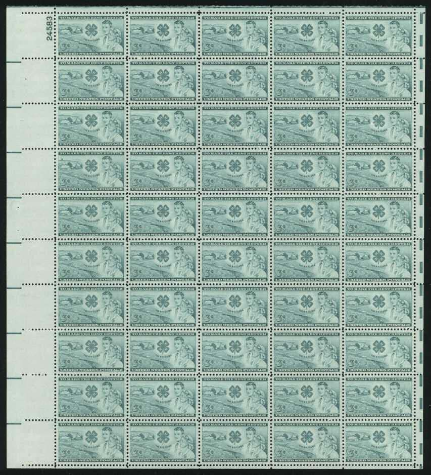 Scott 1005 Sheet (3 cents) <p> <a href=&quot;/images/USA-Scott-1005-Sheet.jpg&quot;><font color=green><b>View the image</a></b></font>