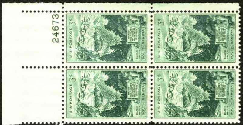 "Scott 1011 Plate Block (3 cents) <p> <a href=""/images/USA-Scott-1011-PB.jpg""><font color=green><b>View the image</a></b></font>"