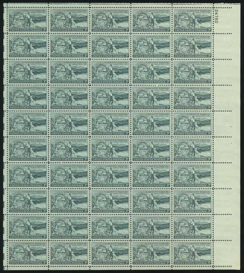 Scott 1019 Sheet (3 cents) <p> <a href=&quot;/images/USA-Scott-1019-Sheet.jpg&quot;><font color=green><b>View the image</a></b></font>
