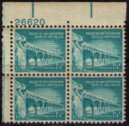 "Scott 1031A Plate Block (1 1/4 cents) <p> <a href=""/images/USA-Scott-1031A-PB.jpg""><font color=green><b>View the image</a></b></font>"
