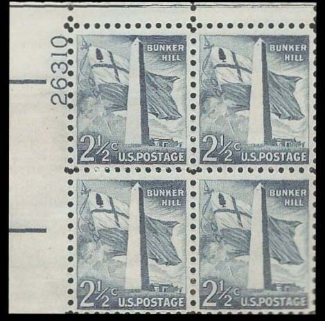 "Scott 1034 Plate Block (2.5 cents) <p> <a href=""/images/USA-Scott-1034-PB.jpg""><font color=green><b>View the image</a></b></font>"