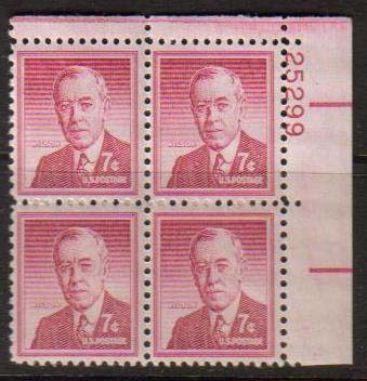 "Scott 1040 Plate Block (7 cents) <p> <a href=""/images/USA-Scott-1040-PB.jpg""><font color=green><b>View the image</a></b></font>"