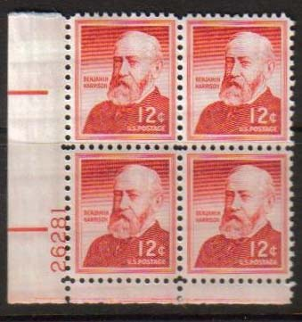 "Scott 1045 Plate Block (12 cents) <p> <a href=""/images/USA-Scott-1045-PB.jpg""><font color=green><b>View the image</a></b></font>"
