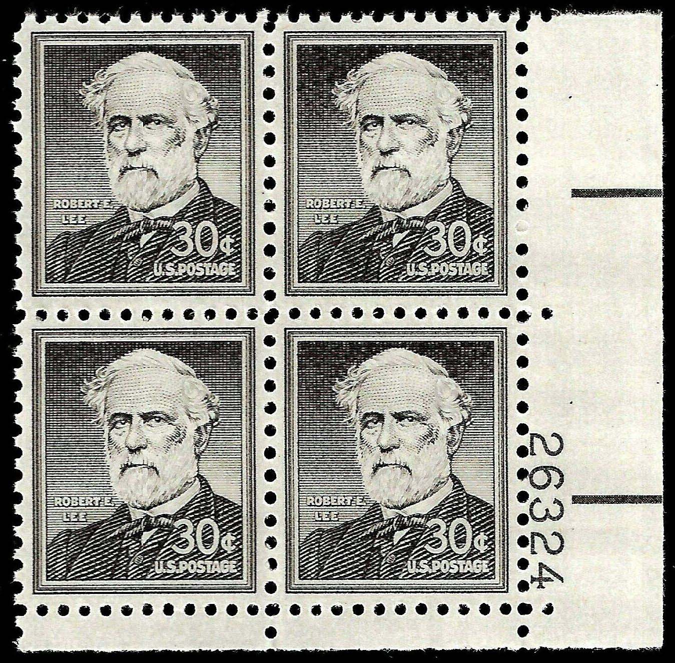 "Scott 1049 Plate Block (30 cents) <p> <a href=""/images/USA-Scott-1049-PB.jpg""><font color=green><b>View the image</a></b></font>"