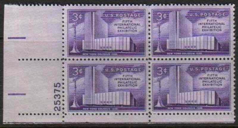 "Scott 1076 Plate Block (3 cents) <p> <a href=""/images/USA-Scott-1076-PB.jpg""><font color=green><b>View the image</a></b></font>"
