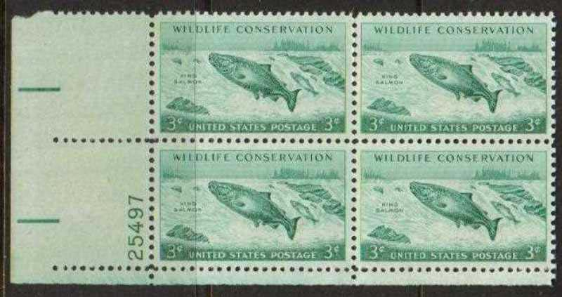 "Scott 1079 Plate Block (3 cents) <p> <a href=""/images/USA-Scott-1079-PB.jpg""><font color=green><b>View the image</a></b></font>"