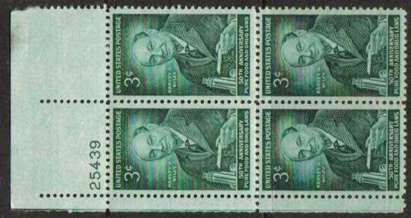 "Scott 1080 Plate Block (3 cents) <p> <a href=""/images/USA-Scott-1080-PB.jpg""><font color=green><b>View the image</a></b></font>"