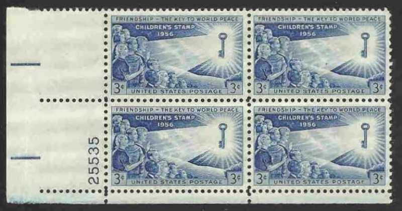 "Scott 1085 Plate Block (3 cents) <p> <a href=""/images/USA-Scott-1085-PB.jpg""><font color=green><b>View the image</a></b></font>"