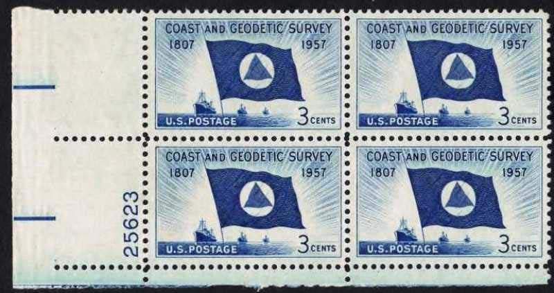 "Scott 1088 Plate Block (3 cents) <p> <a href=""/images/USA-Scott-1088-PB.jpg""><font color=green><b>View the image</a></b></font>"