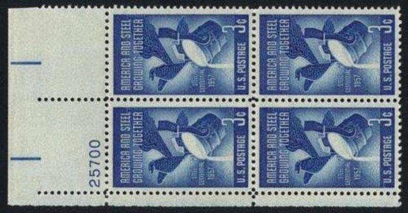 "Scott 1090 Plate Block (3 cents) <p> <a href=""/images/USA-Scott-1090-PB.jpg""><font color=green><b>View the image</a></b></font>"