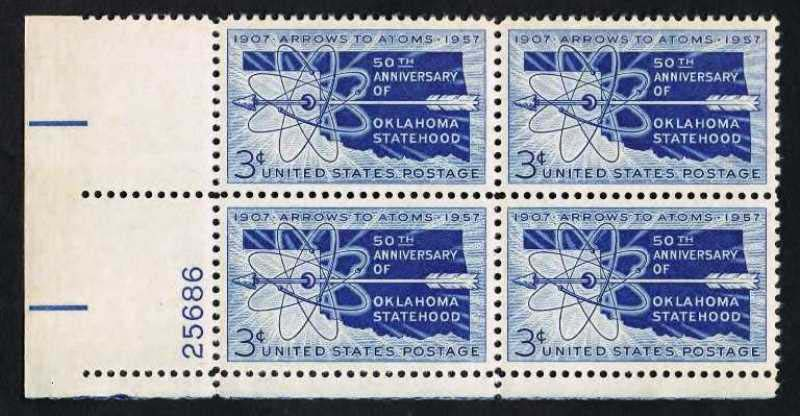"Scott 1092 Plate Block (3 cents) <p> <a href=""/images/USA-Scott-1092-PB.jpg""><font color=green><b>View the image</a></b></font>"