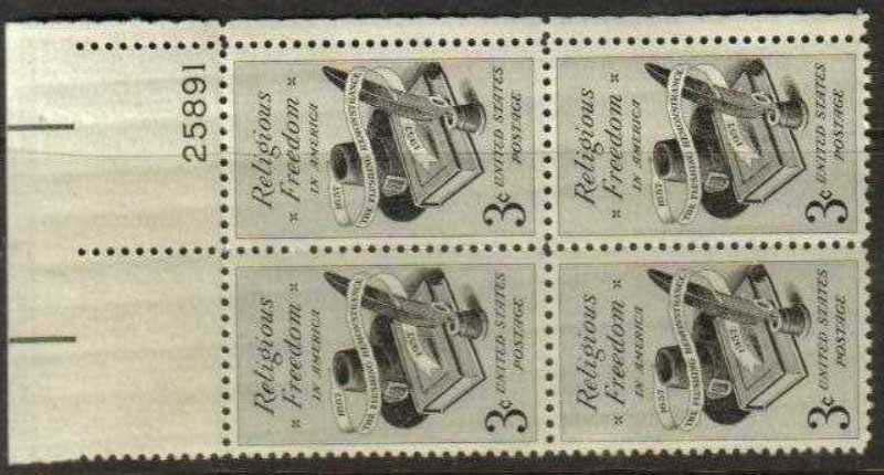 "Scott 1099 Plate Block (3 cents) <p> <a href=""/images/USA-Scott-1099-PB.jpg""><font color=green><b>View the image</a></b></font>"