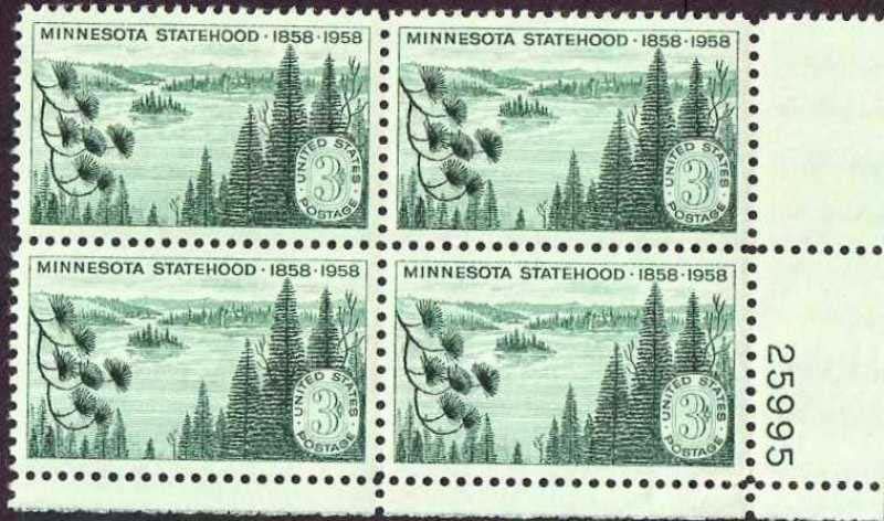 "Scott 1106 Plate Block (3 cents) <p> <a href=""/images/USA-Scott-1106-PB.jpg""><font color=green><b>View the image</a></b></font>"