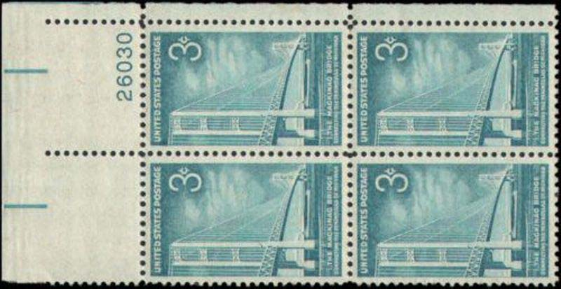 "Scott 1109 Plate Block (3 cents) <p> <a href=""/images/USA-Scott-1109-PB.jpg""><font color=green><b>View the image</a></b></font>"