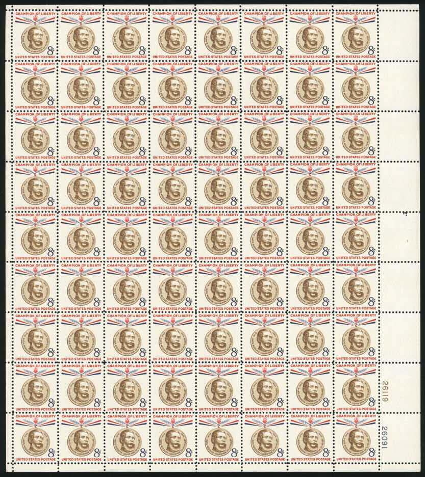 "Scott 1118 Sheet (8 cents) <p> <a href=""/images/USA-Scott-1118-Sheet.jpg""><font color=green><b>View the image</a></b></font>"