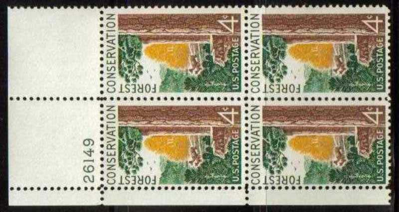 "Scott 1122 Plate Block (4 cents) <p> <a href=""/images/USA-Scott-1122-PB.jpg""><font color=green><b>View the image</a></b></font>"