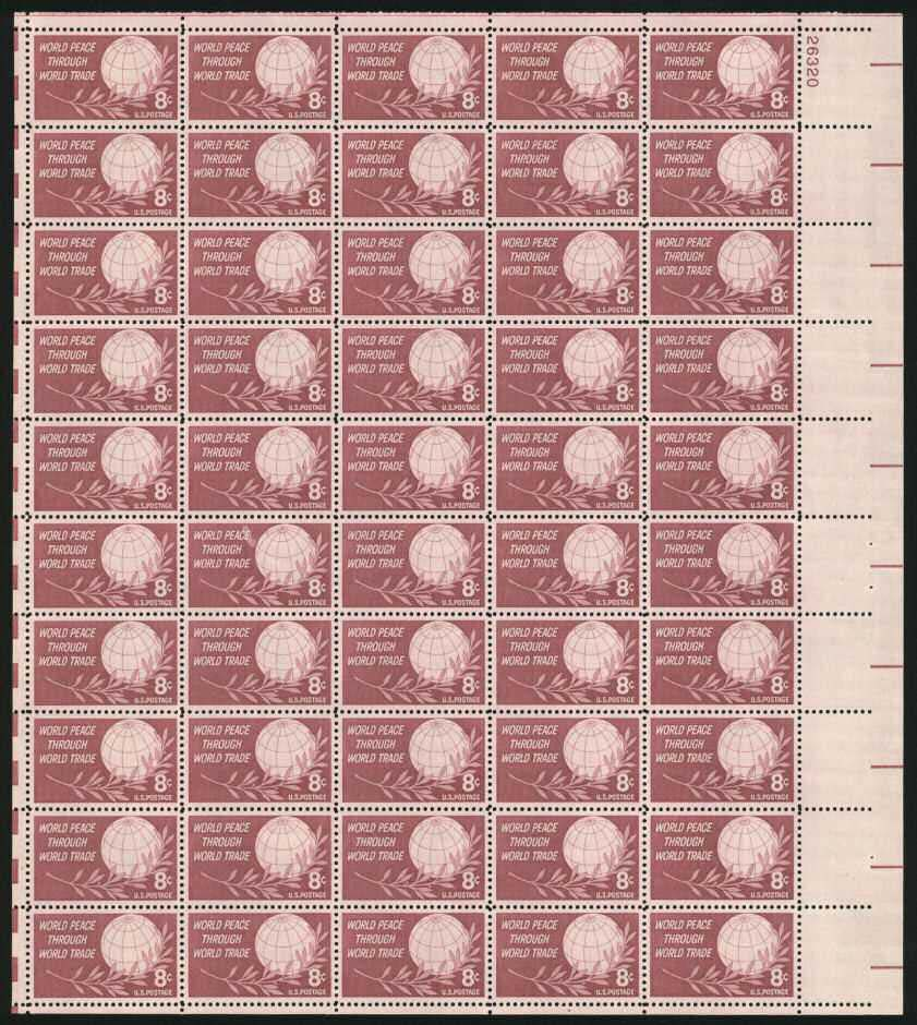 "Scott 1129 Sheet (8 cents) <p> <a href=""/images/Image-Added-Soon.jpg""><font color=green><b>View the image</a></b></font>"