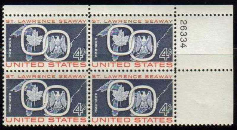 "Scott 1131 Plate Block (4 cents) <p> <a href=""/images/USA-Scott-1131-PB.jpg""><font color=green><b>View the image</a></b></font>"