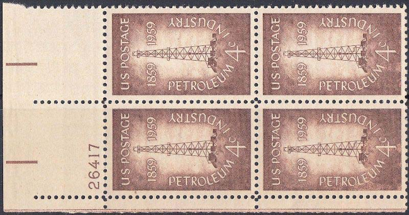 "Scott 1134 Plate Block (4 cents) <p> <a href=""/images/USA-Scott-1134-PB.jpg""><font color=green><b>View the image</a></b></font>"
