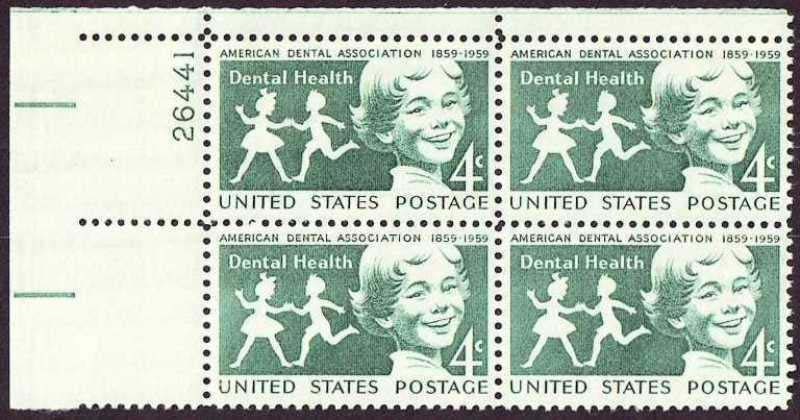 "Scott 1135 Plate Block (4 cents) <p> <a href=""/images/USA-Scott-1135-PB.jpg""><font color=green><b>View the image</a></b></font>"