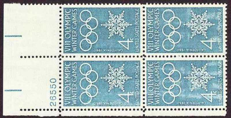 "Scott 1146 Plate Block (4 cents) <p> <a href=""/images/USA-Scott-1146-PB.jpg""><font color=green><b>View the image</a></b></font>"