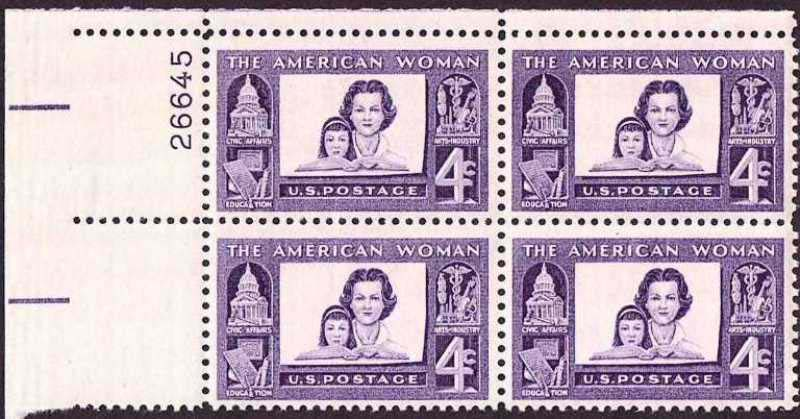 "Scott 1152 Plate Block (4 cents) <p> <a href=""/images/USA-Scott-1152-PB.jpg""><font color=green><b>View the image</a></b></font>"