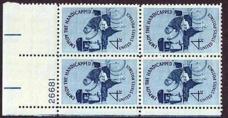 "Scott 1155 Plate Block (4 cents) <p> <a href=""/images/USA-Scott-1155-PB.jpg""><font color=green><b>View the image</a></b></font>"