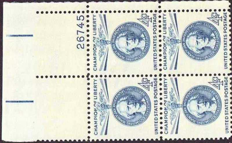 "Scott 1159 Plate Block (4 cents) <p> <a href=""/images/USA-Scott-1159-PB.jpg""><font color=green><b>View the image</a></b></font>"