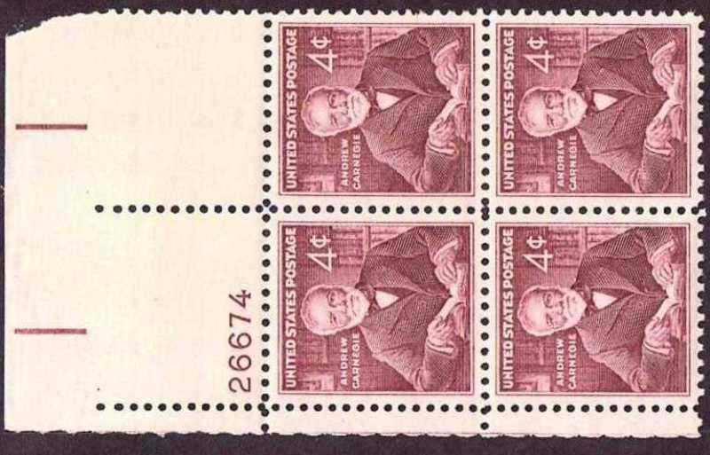"Scott 1171 Plate Block (4 cents) <p> <a href=""/images/USA-Scott-1171-PB.jpg""><font color=green><b>View the image</a></b></font>"