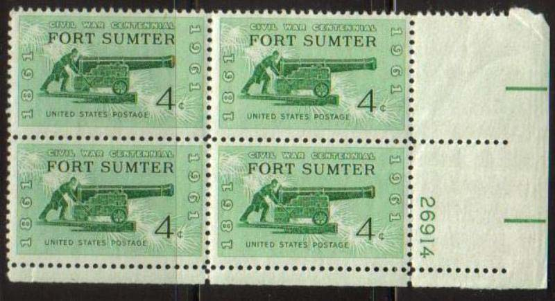 "Scott 1178 Plate Block (4 cents) <p> <a href=""/images/USA-Scott-1178-PB.jpg""><font color=green><b>View the image</a></b></font>"