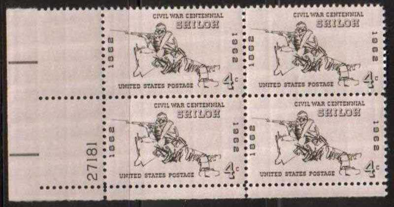 "Scott 1179 Plate Block (4 cents) <p> <a href=""/images/USA-Scott-1179-PB.jpg""><font color=green><b>View the image</a></b></font>"