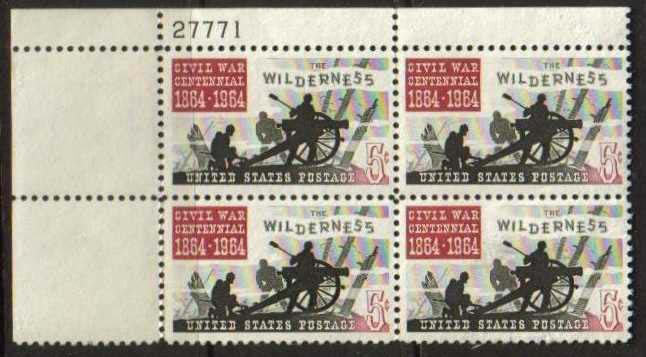 "Scott 1181 Plate Block (5 cents) <p> <a href=""/images/USA-Scott-1181-PB.jpg""><font color=green><b>View the image</a></b></font>"