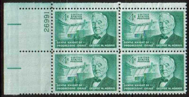 "Scott 1184 Plate Block (4 cents) <p> <a href=""/images/USA-Scott-1184-PB.jpg""><font color=green><b>View the image</a></b></font>"