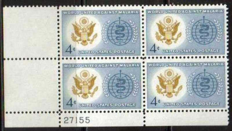 "Scott 1194 Plate Block (4 cents) <p> <a href=""/images/USA-Scott-1194-PB.jpg""><font color=green><b>View the image</a></b></font>"