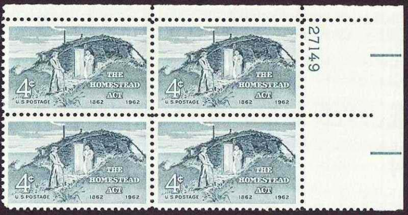 "Scott 1198 Plate Block (4 cents) <p> <a href=""/images/USA-Scott-1198-PB.jpg""><font color=green><b>View the image</a></b></font>"