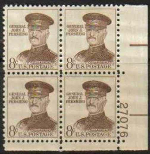 "Scott 1214 Plate Block (8 cents) <p> <a href=""/images/USA-Scott-1214-PB.jpg""><font color=green><b>View the image</a></b></font>"