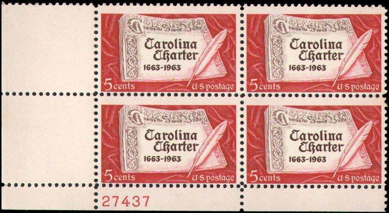 "Scott 1230 Plate Block (5 cents) <p> <a href=""/images/USA-Scott-1230-PB.jpg""><font color=green><b>View the image</a></b></font>"