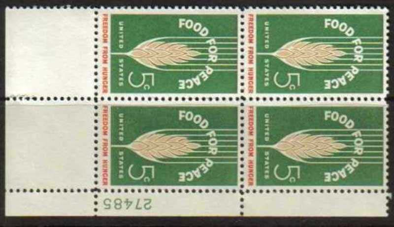 "Scott 1231 Plate Block (5 cents) <p> <a href=""/images/USA-Scott-1231-PB.jpg""><font color=green><b>View the image</a></b></font>"