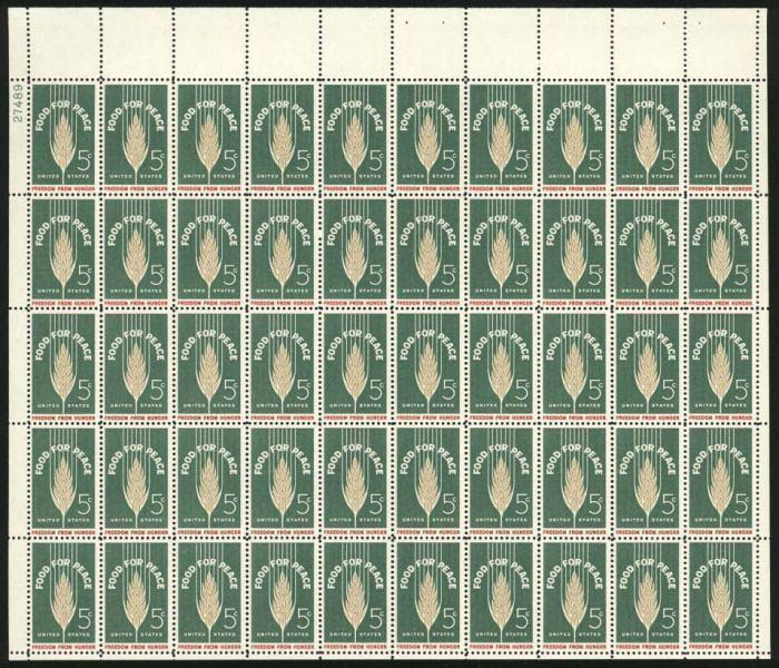 "Scott 1231 Sheet (5 cents) <p> <a href=""/images/USA-Scott-1231-Sheet.jpg""><font color=green><b>View the image</a></b></font>"