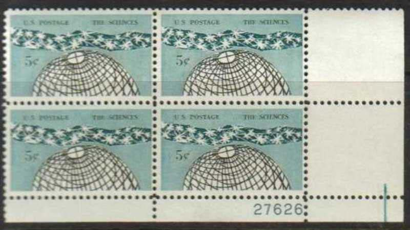 "Scott 1237 Plate Block (5 cents) <p> <a href=""/images/USA-Scott-1237-PB.jpg""><font color=green><b>View the image</a></b></font>"
