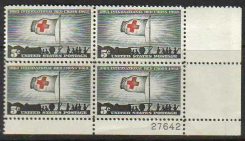 "Scott 1239 Plate Block (5 cents) <p> <a href=""/images/USA-Scott-1239-PB.jpg""><font color=green><b>View the image</a></b></font>"